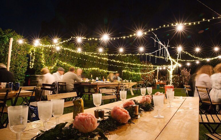 festoon lighting style events coffs coast weddings corporate